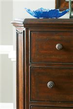 Canted Corners with Molding on Dressers and Chest