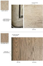 Antique Square Nail Holes, Spatter, and Gouging Adorn the Rustic Weathered Pier Finish