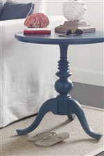 Single Pedestal Accent Table