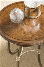 Mappa Burl Top on Martini Table