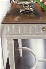 Raised Dentil Moulding on End Table