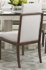 Elegant Contemporary Exposed Wood Chair Frame