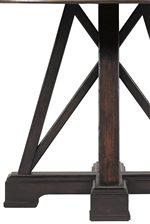 Table Pedestal Base with Diagonal Braces