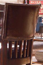 Nailhead Trim Detail on Bar Stools