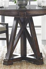 Architectural Pedestal Base on Round/Oval Table