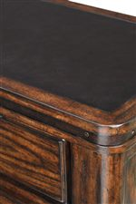 Metal Top and Metal Banding for Arts & Crafts Style on Buffet