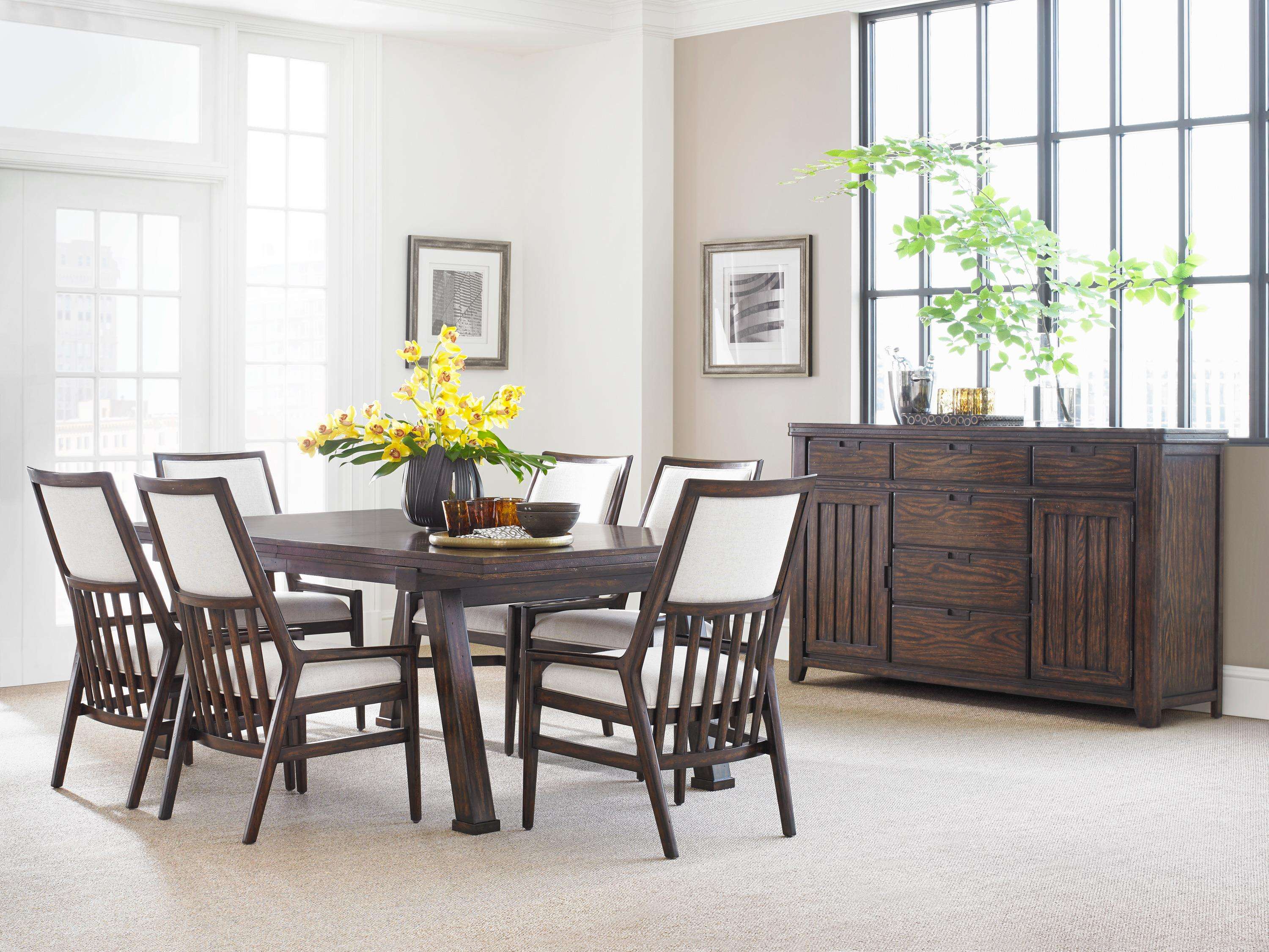 Stanley Furniture Dining Room Stanley Furniture Newel Round Pedestal Table With Cathedral White