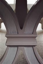 Trestle Base with Hand-Painted Taupe Striping