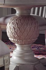 Artichoke Detail on Pedestal Table
