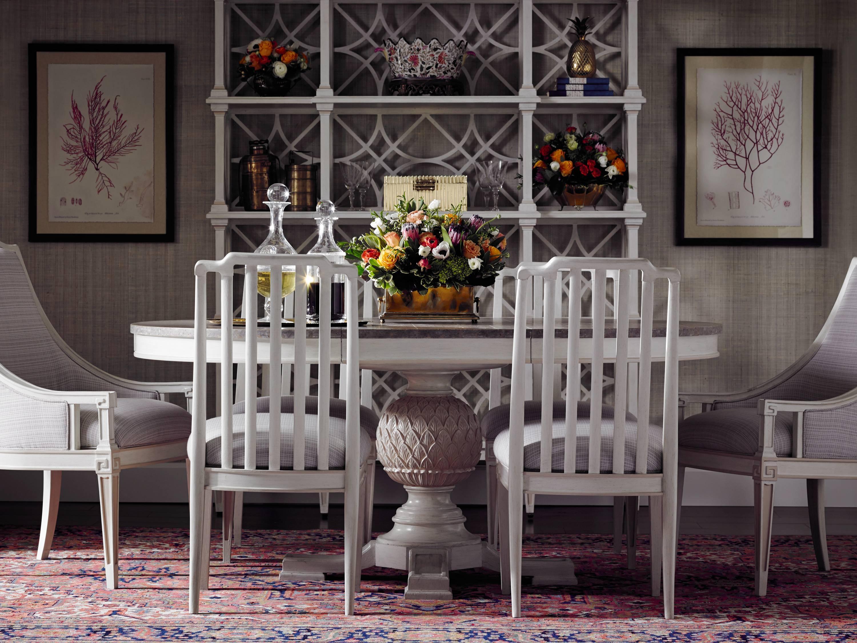 Stanley Furniture Preserve 7 Piece Artichoke Pedestal Table Set   Item  Number: 340