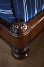Hand-Carved Coin Detail on Head and Footboard of Sleigh Bed