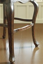 Cabriole Style Legs with Rustic Iron Footrest
