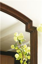 Beveled Mirror with Wood Molding