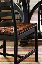 Woven Belt Leather Seats