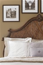 Multi-Dimensional Lattice Overlay and Sea Scroll Arches on Panel Headboard