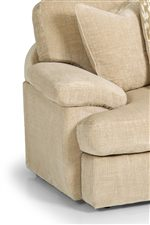 Wide Pillow Arms and Casual T-Front Cushions Emphasize Comfort and Laid-Back Style