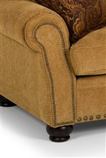 Nailhead-trimmed, Rolled Arms and Turned Wood Feet