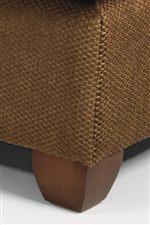 Exposed Wood Tapered Block Feet