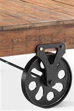 Wood Plank Top and Wheel Feet