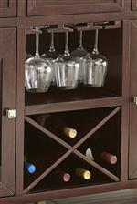 Removable Wine Bottle Storage and Hanging Glass Storage