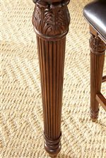 Turned Legs with Acanthus Leaf Carvings
