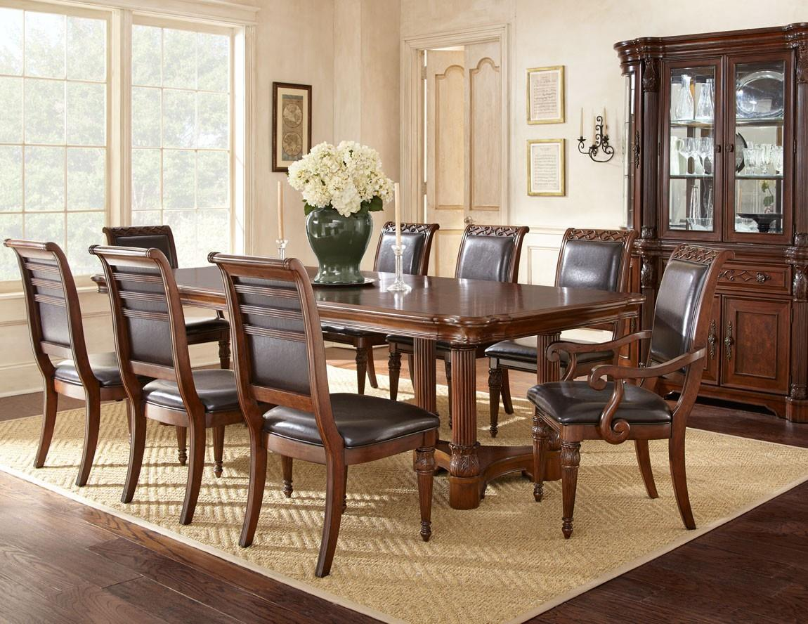 Steve Silver Alberta Formal Dining Room Group - Item Number: AB Formal Dining Room Group 1