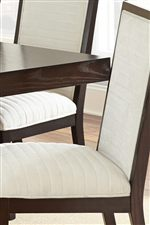 Chenille Upholstered Chairs with Seam Detailing