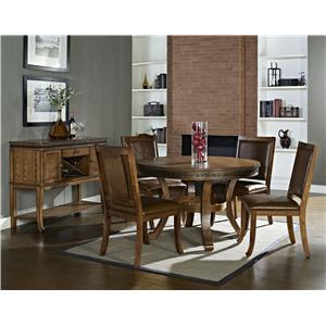 Steve Silver Ashbrook 5-Piece Transitional Round Dining Table & Side Chair Set