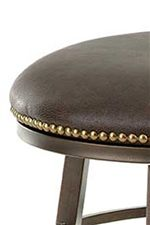 Bonded Leather Seats with Nailhead Trim on Select Pieces