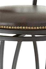 Bonded Leather Seats Feature Nailhead Trim
