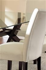 Bonded Leather Upholstery on Parsons Chairs