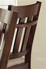 Slatted Chair Backs with Horizontal Rung Accents Establish Casual Mission Style