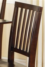 Sophisticated Vertically Slatted Chair Back