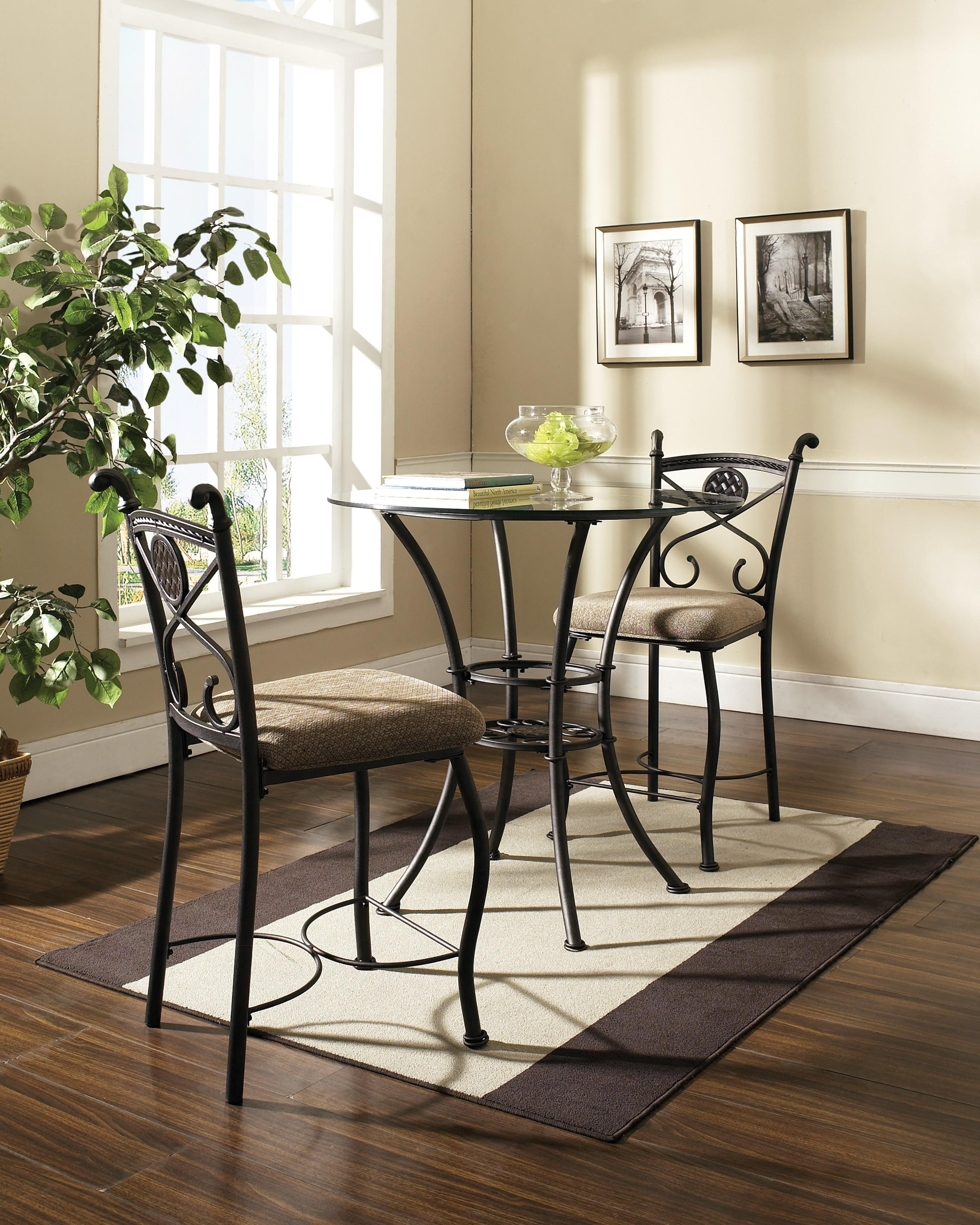 Steve Silver Brookfield 3 Piece Counter Dining Set | Northeast Factory Direct | Pub Table and Stool Set Cleveland Eastlake Westlake Mentor Medina Ohio & Steve Silver Brookfield 3 Piece Counter Dining Set | Northeast ...