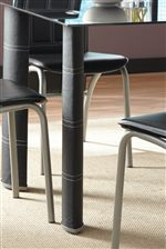 Table Legs Wrapped in Leather-Like Upholstery
