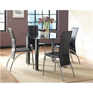 Steve Silver Calvin 5 Piece Dining Set with Upholstered Chairs