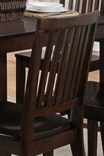 Slat Detail Featured on Chair Seat Backs