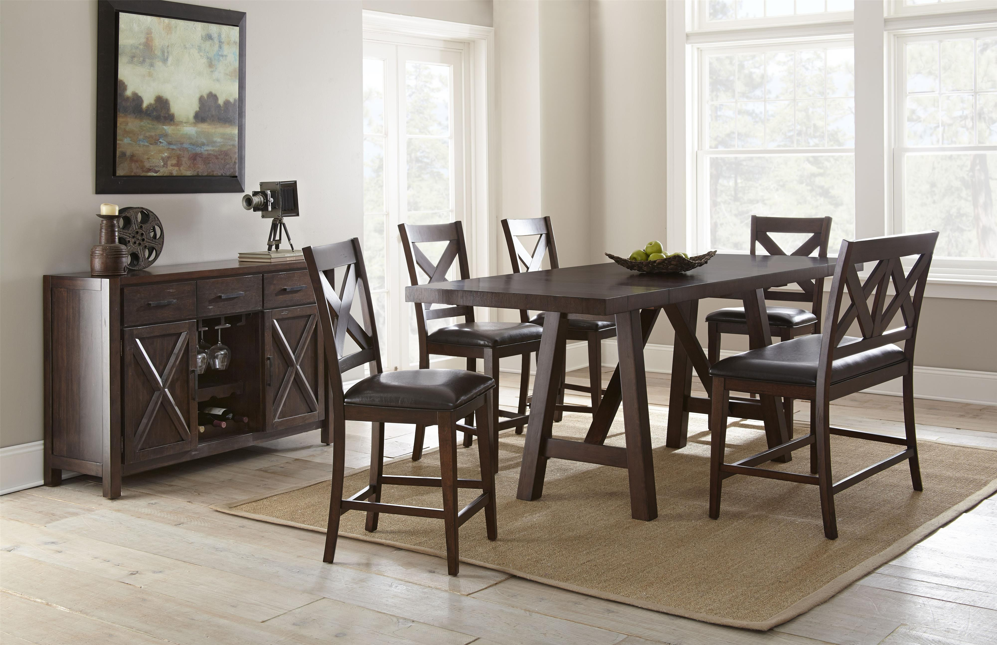 Wayside Dining Room Furniture: Steve Silver Clapton Casual Dining Room Group
