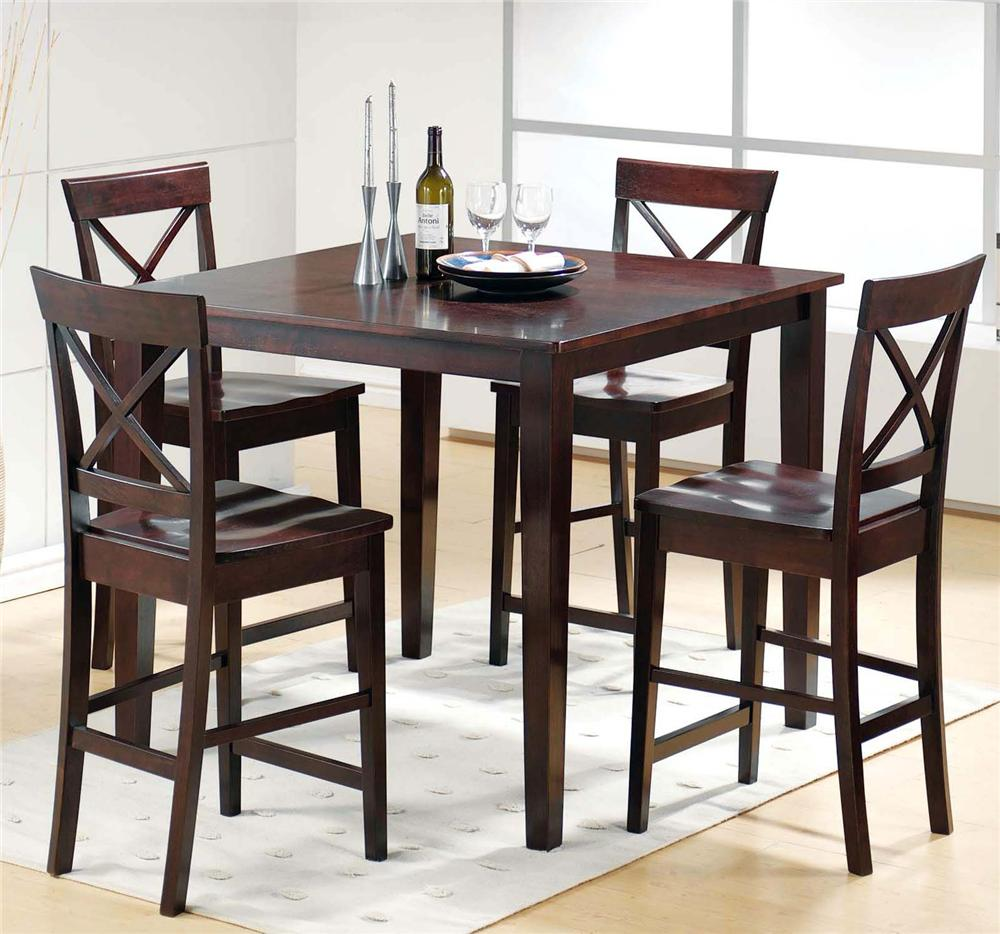Beau Steve Silver Cobalt 5 Piece Pub Table U0026 Chair Set   Item Number: CB200E