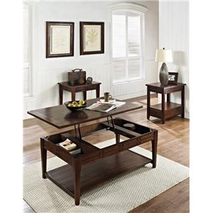 Morris Home Furnishings Crestline Chairside End Table with Drawer