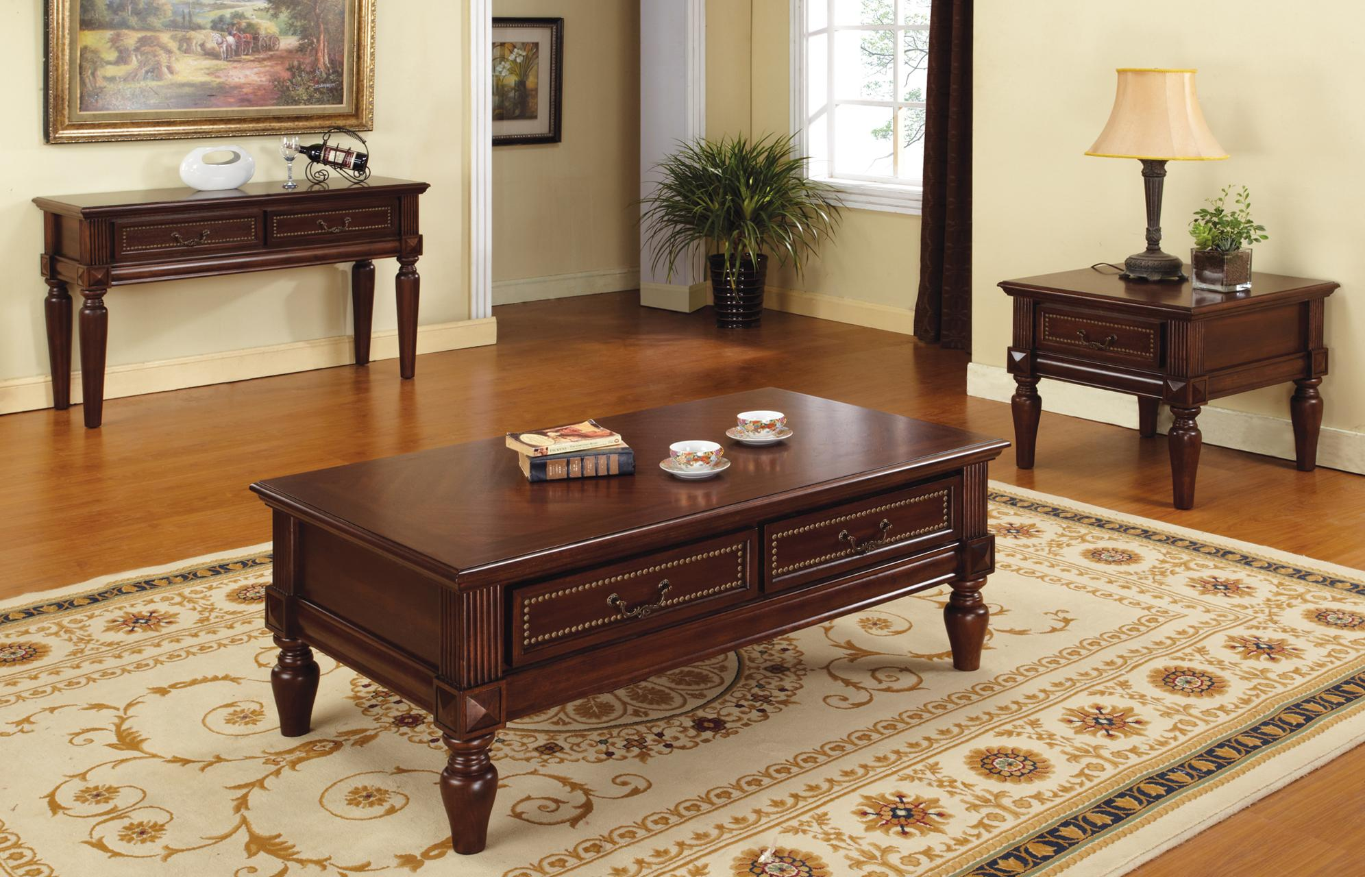 Steve Silver Davina Single Drawer Traditional End Table with Nailhead Trim | Wayside Furniture | End Table & Steve Silver Davina Single Drawer Traditional End Table with ...