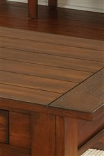 Paneling Detail on Table Tops and Shelves