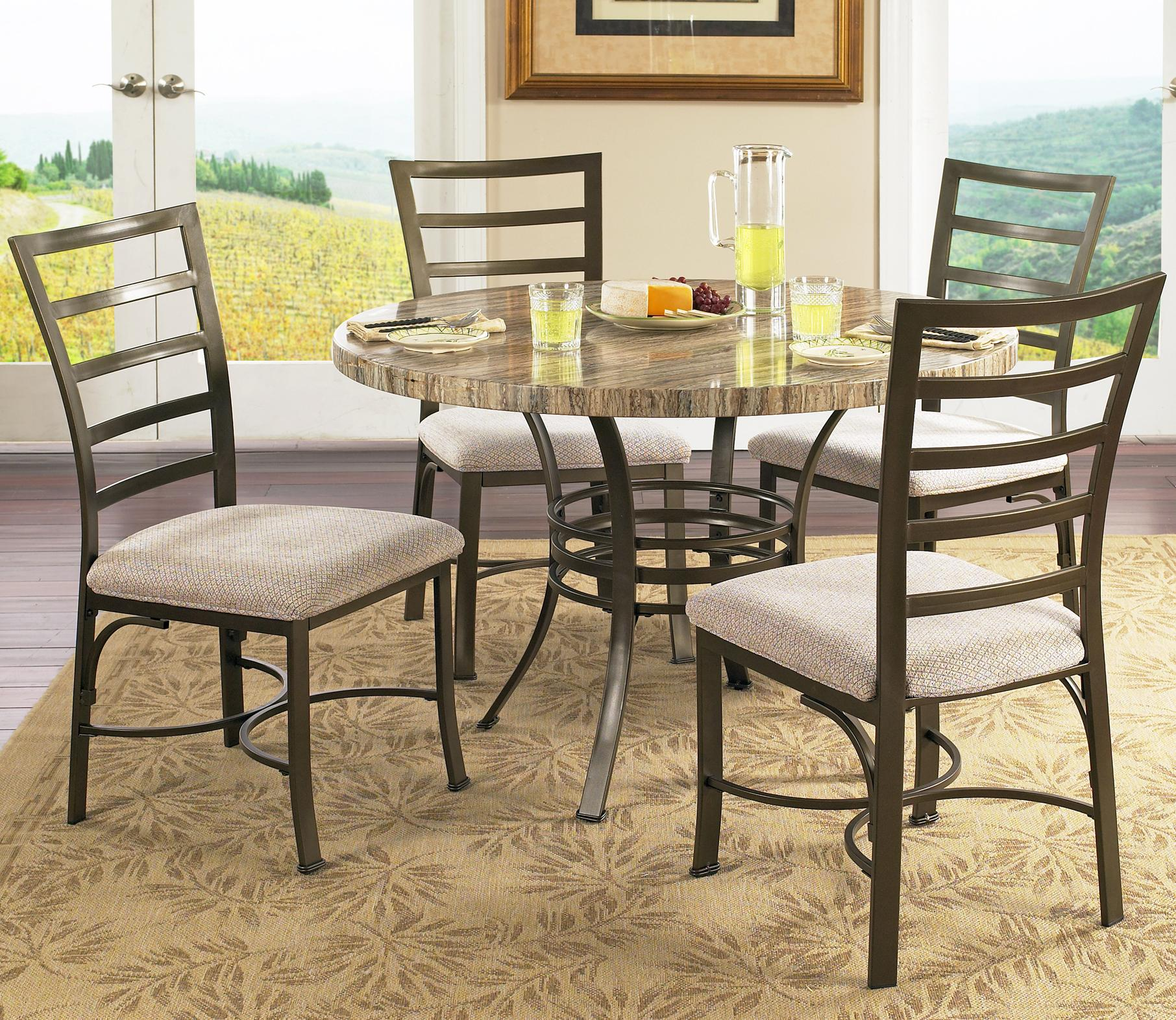 Steve Silver Ellen 5 Piece Round Table & Side Chairs Set Wayside
