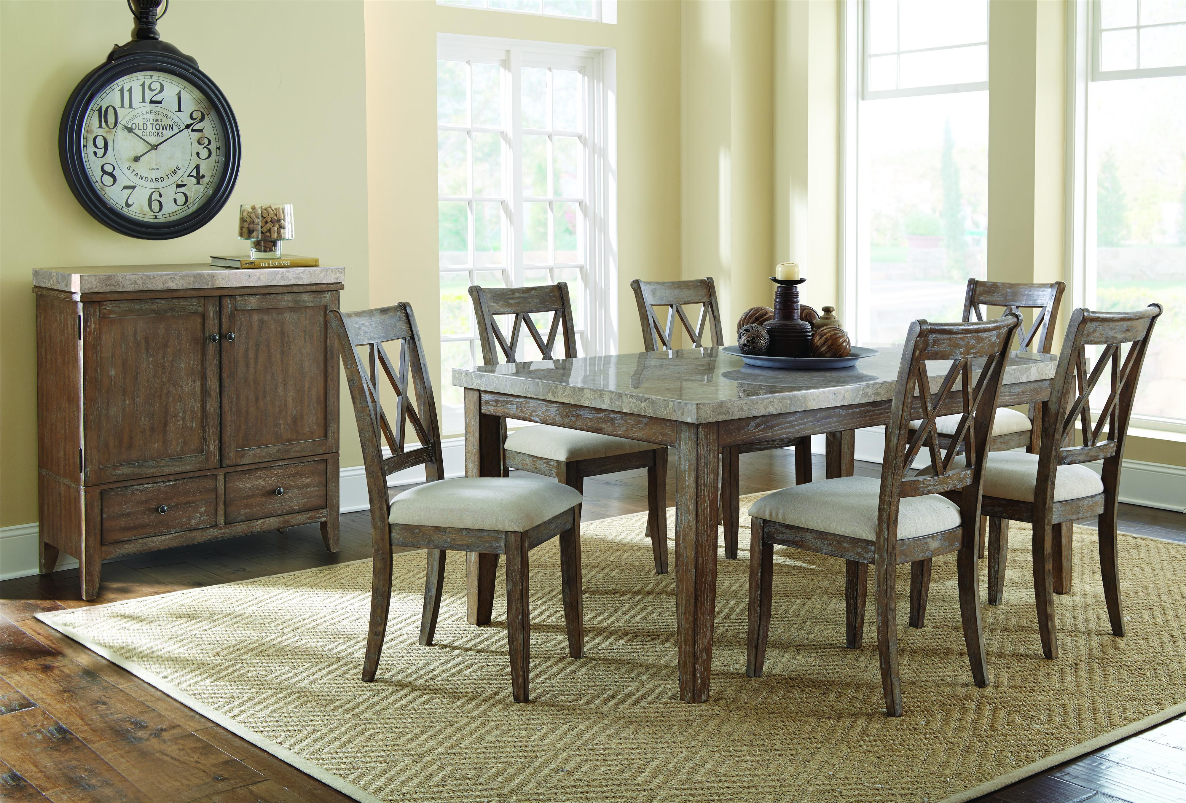 Steve Silver Franco 9 Piece Marble Counter Height Dining Set | Wayside  Furniture | Pub Table And Stool Set