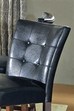 Tufted Leather-Like Chair Backrests