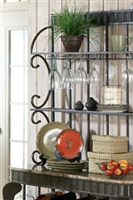 Metal Baker's Rack with Faux Marble Top
