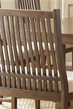 Seating Options Feature Slatted Backs