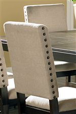 Large Nailhead Trim on Side Chair Backrest