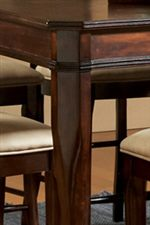 Beveled Table Legs and Carved Table Edge