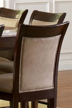 Picture Frame Seat Backs with Bonded Leather Upholstery